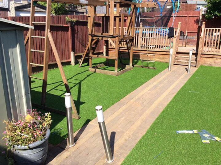 fake grass for childrens play area
