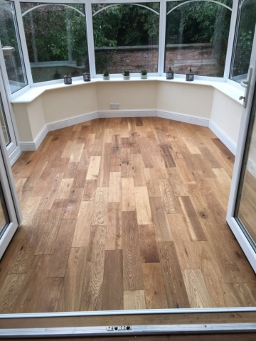 real oak floor